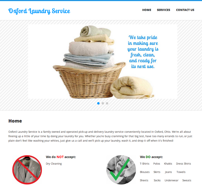 Oxford Laundry Service